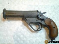 Pistola Lancia Razzi Modello Inglese, in Duro Alluminio Perfetto come nuovo