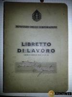 Libretto di Lavoro periodo ventenni era Fascista.